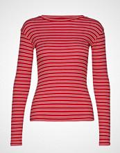 Mads Nørgaard 2x2 Duo Stripe Tuba T-shirts & Tops Long-sleeved Rød MADS NØRGAARD