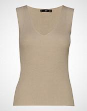 Mango Knit Strap Top T-shirts & Tops Sleeveless Beige MANGO