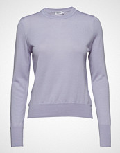 Filippa K Merino R-Neck Sweater Strikket Genser Lilla FILIPPA K