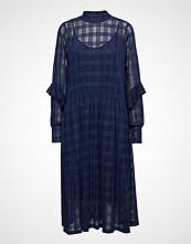 Soft Rebels Pam Ruffel Dress Knelang Kjole Blå SOFT REBELS