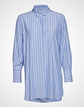 Second Female Anouk Shirt Langermet Skjorte Blå SECOND FEMALE