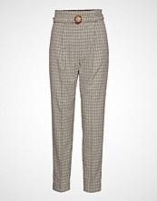 Mango Belt Straight-Fit Trousers Bukser Med Rette Ben Grå MANGO