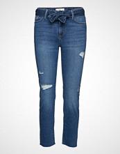 Mango Straight-Fit Belt Jeans Slim Jeans Blå MANGO