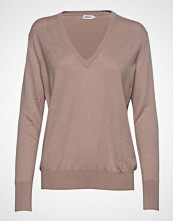 Filippa K Silk Mix V-Neck Sweater Strikket Genser Beige FILIPPA K