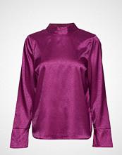 Saint Tropez Dotted Bow Blouse Bluse Langermet Lilla SAINT TROPEZ