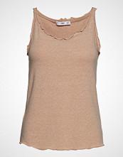 Mango Spaghetti Strap Top T-shirts & Tops Sleeveless Beige MANGO
