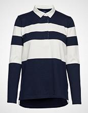 Gant D1. Striped Heavy Rugger T-shirts & Tops Long-sleeved Blå GANT