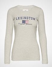 Lexington Clothing Thelma Tee T-shirts & Tops Long-sleeved Grå LEXINGTON CLOTHING