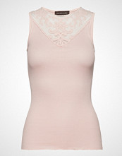 Rosemunde Silk Top Regular W/Lace T-shirts & Tops Sleeveless Rosa ROSEMUNDE