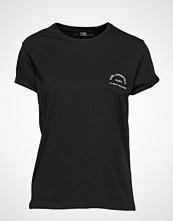 Karl Lagerfeld Rue Lagerfeld Pocket Tee T-shirts & Tops Short-sleeved Svart KARL LAGERFELD