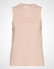 Mango Embroidered Message T-Shirt T-shirts & Tops Sleeveless Rosa MANGO