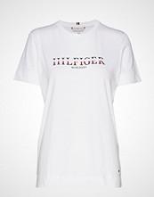 Tommy Hilfiger Kacy C-Nk Tee Ss, Py T-shirts & Tops Short-sleeved Hvit TOMMY HILFIGER
