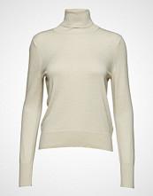 Filippa K Lurex Roller Neck Sweater Høyhalset Pologenser Creme FILIPPA K