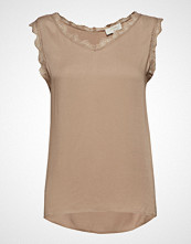 Cream Alena Top Bluse Ermeløs Beige CREAM
