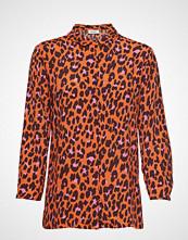 Modström Robbie Print Shirt Langermet Skjorte Oransje MODSTRÖM