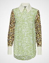 Stine Goya James, 663 Silk Placements Langermet Skjorte Grønn STINE GOYA