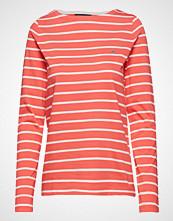 Gant Breton Stripe Boatneck Jumper T-shirts & Tops Long-sleeved Rød GANT