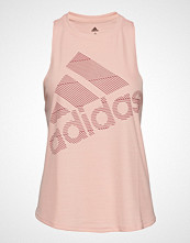 Adidas Performance Bos Logo Tank T-shirts & Tops Sleeveless Rosa ADIDAS PERFORMANCE