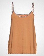 Coster Copenhagen Strap Top W. Leopard Tape T-shirts & Tops Sleeveless Brun COSTER COPENHAGEN