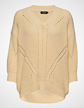 Soaked in Luxury Sl Oceane Rodeo Pullover 3/4 Strikket Genser Beige SOAKED IN LUXURY