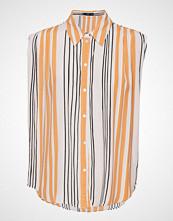 Mango Sleeveless Shirt Bluse Ermeløs Oransje MANGO