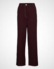 Stine Goya John, 617 Solid Tailoring Bukser Med Rette Ben Rød STINE GOYA