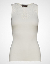 Rosemunde Silk Top Regular W/Lace T-shirts & Tops Sleeveless Creme ROSEMUNDE
