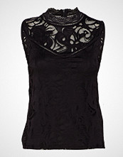 Vila Vistasia S/L Lace Top T-shirts & Tops Sleeveless Svart VILA