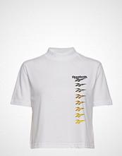 Reebok Classics Cl V P Cropeed Tee T-shirts & Tops Short-sleeved Hvit REEBOK CLASSICS