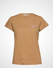Munthe Helix T-shirts & Tops Short-sleeved Brun MUNTHE