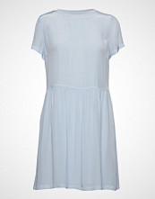 Calvin Klein Faux Silk T-Shirt Dr Kort Kjole Blå CALVIN KLEIN JEANS