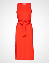 Banana Republic Sl Ponte Tie Waist Column Dress Knelang Kjole Oransje BANANA REPUBLIC