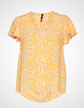 Mango Belt Midi Skirt Bluse Kortermet Oransje MANGO