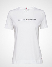 Tommy Hilfiger Th Ess Hilfiger Crew T-shirts & Tops Short-sleeved Hvit TOMMY HILFIGER