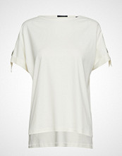 Scotch & Soda Seasonal Tee With Adjustable Sleeves In Clean Quality T-shirts & Tops Short-sleeved Hvit SCOTCH & SO