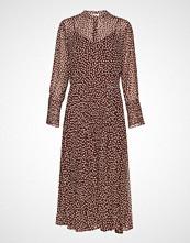 Second Female Anita Ls Maxi Dress Knelang Kjole Brun SECOND FEMALE