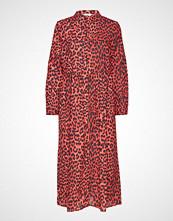 Envii Enharry Ls Maxi Dress Aop 6629 Maxikjole Festkjole Rød ENVII