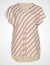 Violeta by Mango Combined Printed T-Shirt Bluse Kortermet Hvit VIOLETA BY MANGO