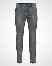 Cheap Monday Sonic Blur Blue Slim Jeans Blå CHEAP MONDAY