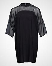 Zizzi Xakki, 7/8, Dress Knelang Kjole Svart ZIZZI