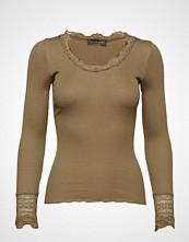 Rosemunde Silk T-Shirt Regular Ls W/Wide Lace T-shirts & Tops Long-sleeved Grønn ROSEMUNDE