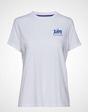 Lee Jeans Mini Logo T T-shirts & Tops Short-sleeved Hvit LEE JEANS