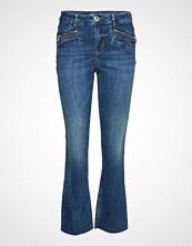 Mos Mosh Sim Zip Jeans Jeans Sleng Blå MOS MOSH