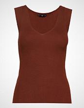 Mango Knit Strap Top T-shirts & Tops Sleeveless Brun MANGO