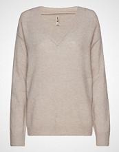 Imitz Pullover-Knit Heavy Strikket Genser Beige IMITZ