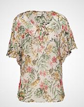 Cream Elodie Top Bluse Kortermet Multi/mønstret CREAM
