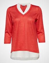 Fransa Frcipirexa 1 T-Shirt Bluse Langermet Rød FRANSA
