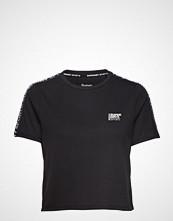 Superdry Sport Core Crop Branded Tee T-shirts & Tops Short-sleeved Svart SUPERDRY SPORT
