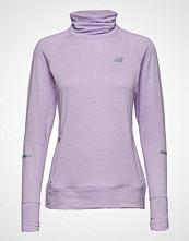 New Balance Nb Heat Pullover T-shirts & Tops Long-sleeved Lilla NEW BALANCE