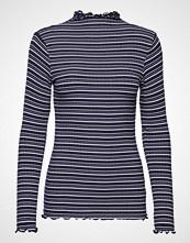 Mads Nørgaard 5x5 Cool Stripe Trutte S T-shirts & Tops Long-sleeved Blå MADS NØRGAARD